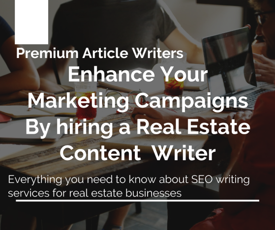 Enhance your Marketing Campaigns by hiring a real estate  Premium Article Writers